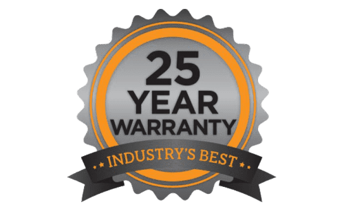 Industry Best 25 Year Warranty
